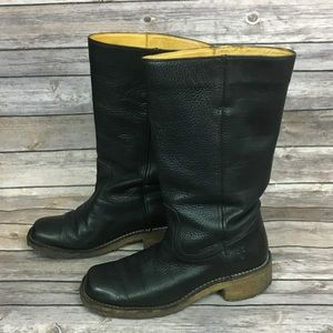Frye Black Campus Crepe Sole Boots